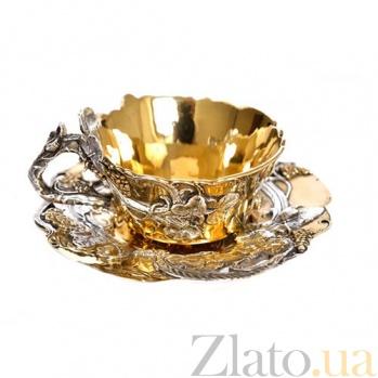 Серебряная позолоченная чашка Виноградная лоза 380