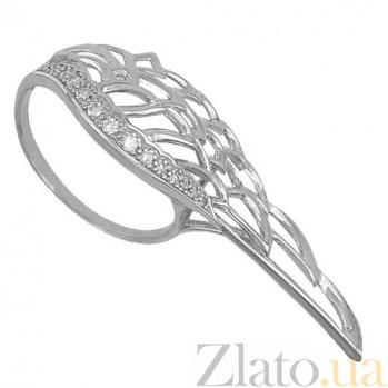 Золотое кольцо Крыло с фианитами VLT--ТТ1297