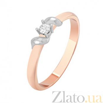 Золотое кольцо с бриллиантом Эвелин KBL--К1082/комб/брил