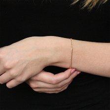Золотой браслет Беатриче в плетении Нонна