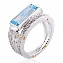 Эксклюзивное кольцо Geometry с топазом и бриллиантами