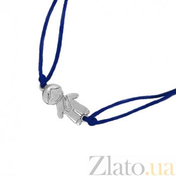 Шелковый браслет со вставкой Мальчик 000012222