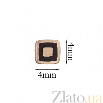 Золотые серьги-пуссеты Геометрия квадрата TNG--500044Е