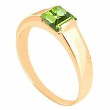 Золотое кольцо с хризолитом Аделина
