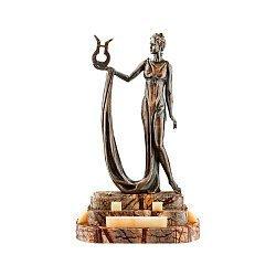 Бронзовая скульптура Эрато на подставке из яшмы и оникса 000051949