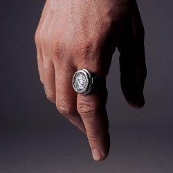 Кольцо из серебра Ave Caesar с чернением 000091395