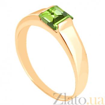 Золотое кольцо с хризолитом Аделина 000029222