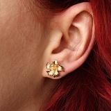 Серьги из желтого золота с бриллиантами Лилия