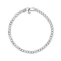 Серебряный браслет в панцирном плетении, 3 мм 000148321