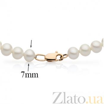 Жемчужное ожерелье с золотым замком Эмелина диам.жемч.7,0-7,5мм SG--7875000049001