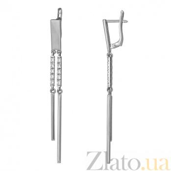 Серьги из серебра с фианитами Нити Ариадны TNG--430111С