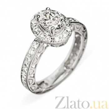 Кольцо из белого золота с бриллиантами Juliet R 0109