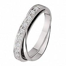 Обручальное кольцо из белого золота с бриллиантами Риана