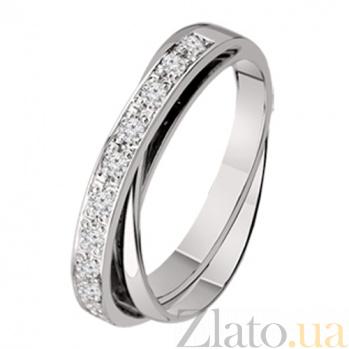 Обручальное кольцо из белого золота с бриллиантами Риана  KBL--К1483/бел/брил