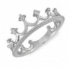 Кольцо из белого золота Маллика с бриллиантами