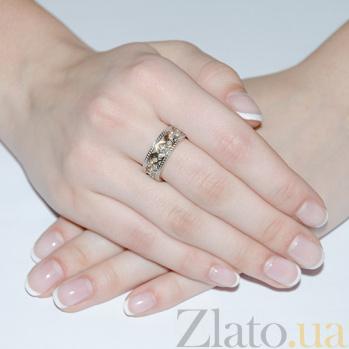 Золотое обручальное кольцо с фианитами Вкус любви 10130