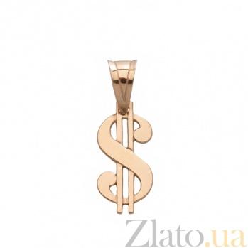 Золотой подвес Доллар TNG--100166