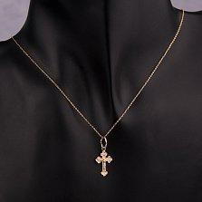 Золотой нательный крестик Время