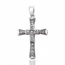 Декоративный крестик с бриллиантами Восторг