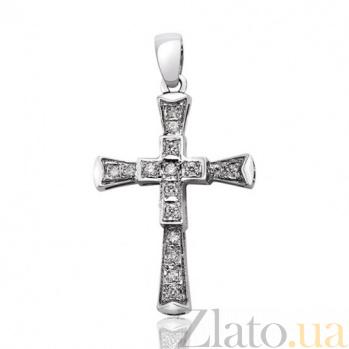 Декоративный крестик с бриллиантами Восторг EDM--КР7146/1