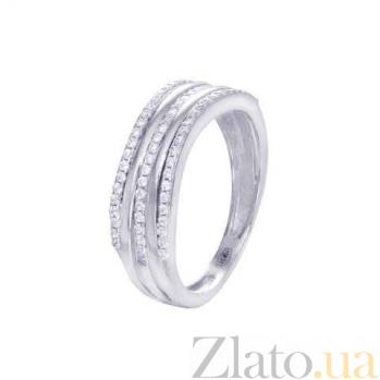 Серебряное декоративное кольцо-дорожка AQA--JR0241