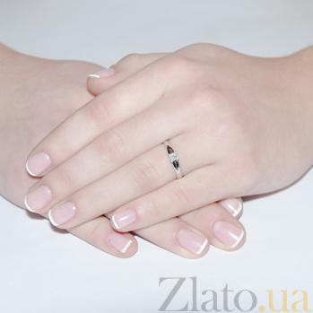 Кольцо из белого золота с бриллиантом Принцесса KBL--К1167/бел/брил