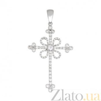Крестик из белого золота Любовь VLT--ТТ3355
