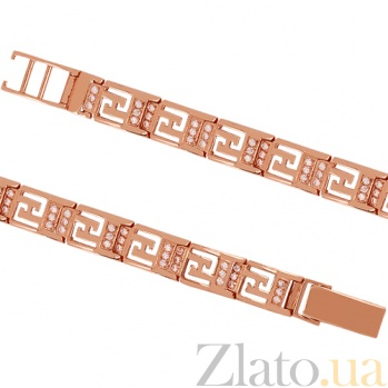 Золотой браслет с цирконием Афины 000029239