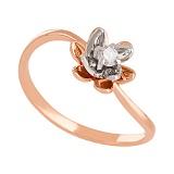 Золотое кольцо с фианитом Лайл