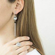 Серебряный перстень Туманный Альбион с завальцованным серым улекситом