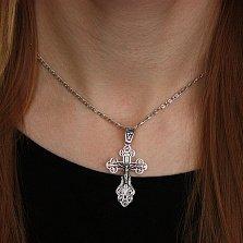 Серебряный крест Вензельный с чернением