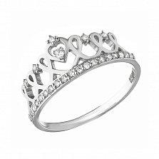 Золотое кольцо Княжна в форме короны с бриллиантами