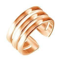 Серебряное кольцо на фалангу с позолотой 000053472
