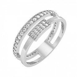 Кольцо из белого золота  с фианитами 000098686