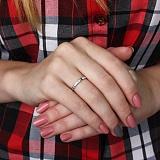 Серебряное кольцо Мелисия с фианитом