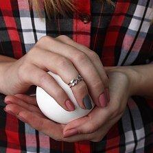 Серебряное кольцо на фалангу Булавка