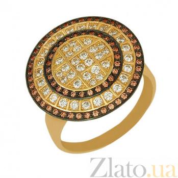 Кольцо из желтого золота Голливуд с фианитами VLT--ТТ154-1