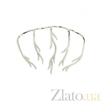 Серебряное кольцо с фианитами Абелия 3К543-0154