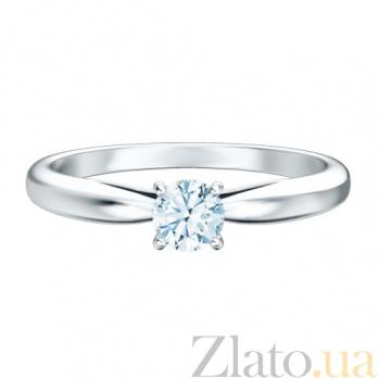 Кольцо с бриллиантом Мой милый ангел: Бережное касание из белого золота 223