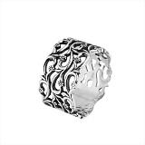 Серебряное кольцо Полевые цветы с чернением