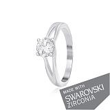 Серебряное кольцо Адрианна с цирконием SWAROVSKI ZIRCONIA