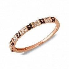 Кольцо Синтия из красного золота с бриллиантами