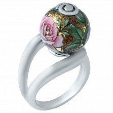 Серебряное кольцо Розалина с цветной эмалью