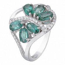 Серебряное кольцо с зеленым кварцем  Вуаль