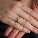 Золотое кольцо с бриллиантом Ирэн