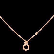 Колье в розовом золоте с бриллиантом Bee