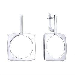 Серебряные серьги-подвески 000122510