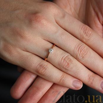 Золотое кольцо с бриллиантом Ирэн VLA--17020