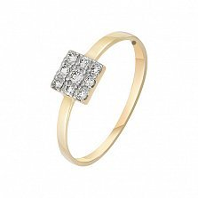 Кольцо в желтом золоте Александра с бриллиантами