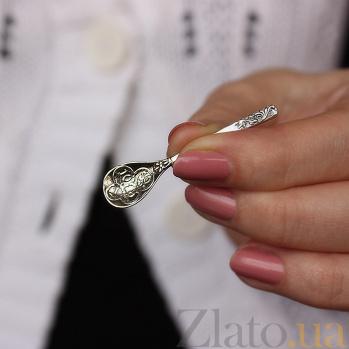 Серебряный сувенир Ложка-загребушка с монетками в ковшике 000064039